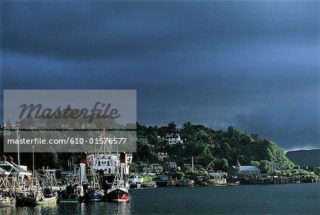 Port d'Oban, en Écosse,