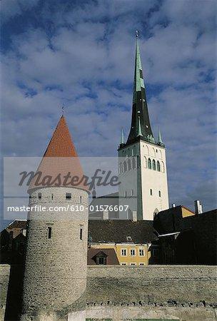 Estonia, Tallinn, old city, Oleviste church