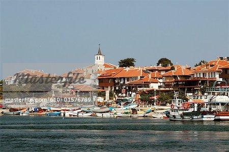 Bulgarie, Nessebar, ville et port