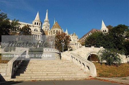 Hungary, Budapest, Fishermen's Bastion and Mathias Church