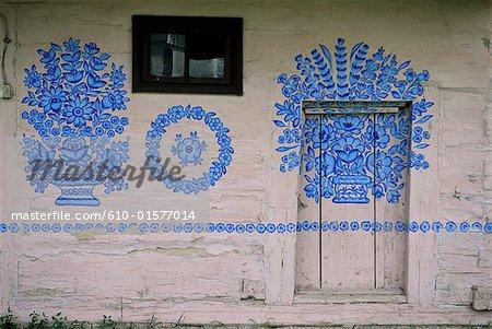 Poland, Zalipie, painted house