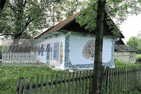Poland, Zalipie, housepainted