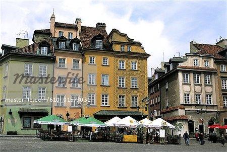 Vieille ville de Varsovie, Pologne, Place Zamkowy