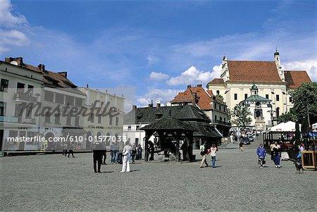 Poland, Pologne, Kazimierz Dolny, market place