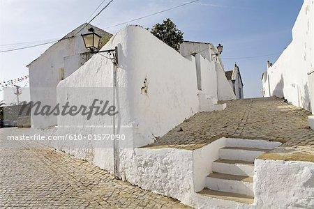 Portugal, Algarve, Cacela Velha, village lane