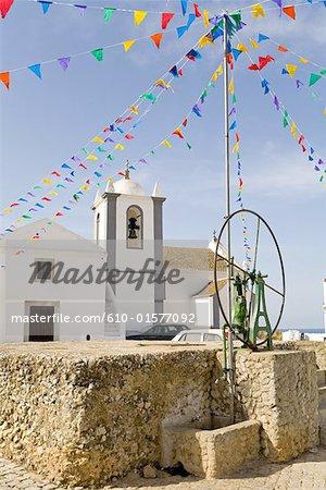 Portugal, Algarve, Cacela Velha, place du village