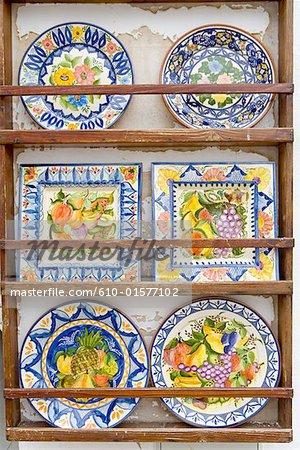 Portugal, Algarve, Alte, peint des plaques