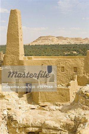 Egypt, Libyan desert, Siwa Oasis, Aghurmi, fortress, Amun Re Temple