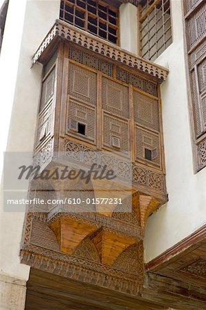 Egypt, Old Cairo, al-Suhaymi House, mashrabiya