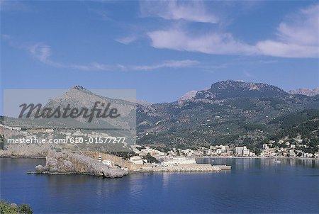 Paysage côtier de Majorque, Soller, Espagne, îles Baléares,