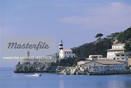 Spain, Balearic Islands, Majorca, Soller, lighthouse