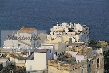 Espagne, îles Baléares, Ibiza, Sa Penya, ancien quartier de pêcheurs