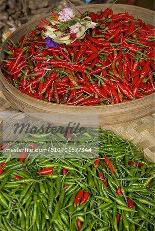 Indonesia, Bali, Ubud, market, peppers