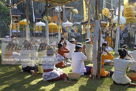 Indonesia, Bali, Rambut Siwi Temple, annual temple festival