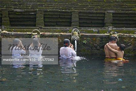 Indonesia, Bali, near Ubud, Tirta Empul Temple, sacred public baths
