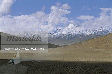 Région de Chine, Tibet, Tingri, route du col Lalung La