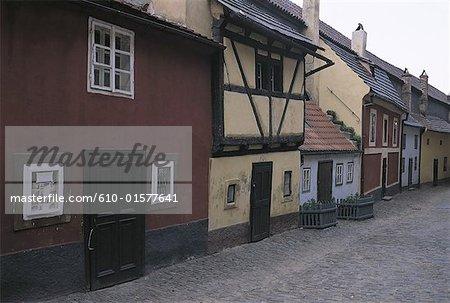Czech Republic, Prague, Golden Lane, houses