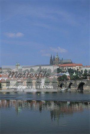 Czech Republic, Prague, Prague Castle and Saint Vitus Cathedral
