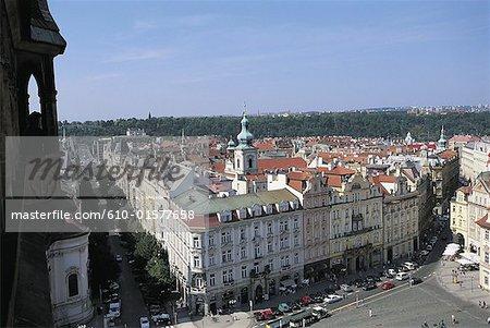 République tchèque, vue générale de Prague, Staromestske Namesti carré,