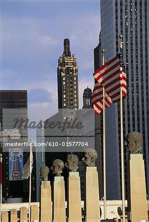 United States, Illinois, Chicago, bronze busts