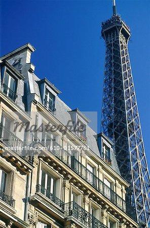 France, Paris, Eiffel Tower and building