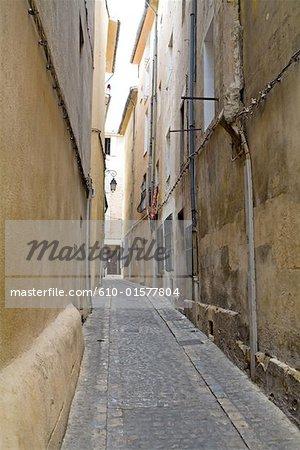 France, Provence, Aix-en-Provence, lane
