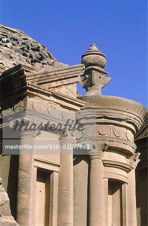 Jordan, Petra, el Deir, architecture detail
