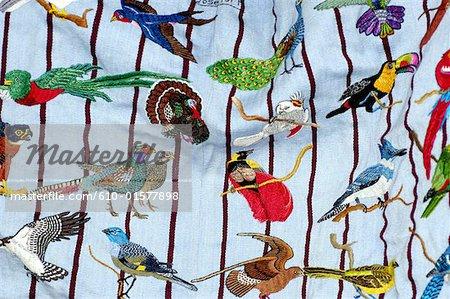 Guatemala, Santiago Atitlan, market, embroideries