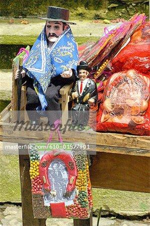 Des effigies de San Simon Guatemala, San Andres Itzapa, également appelé Maximon