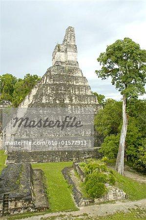 Guatemala, Tikal National Park, pyramid of the Temple of the Jaguar