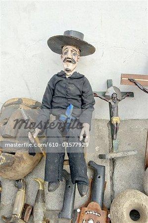 Guatemala, San Andres Itzapa, effigy of San Simon also called Maximon