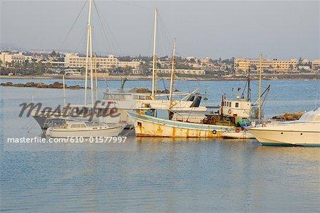 Bateaux de pêche de Paphos, Chypre