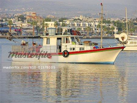 Cyprus, Paphos, fishing boat