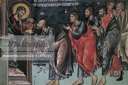 Cyprus, Galata, church of Panayia Podithou, fresco