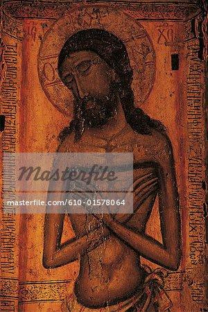 Chypre, près de Paphos, monastère de Chrysoroyiatissa, icône du Christ