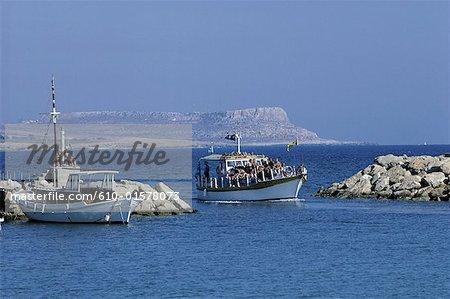 Chypre, près de Ayia Napa, bateaux