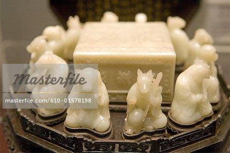 Chine, Pékin, cité interdite, Palais Musée, Ivoire signes du zodiaque chinois