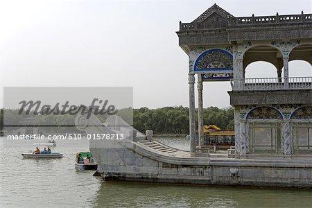 China, Beijing, Summer Palace, Marble Boat on Kunming Lake