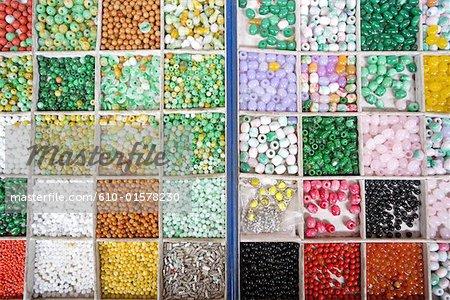 China, Beijing, Panjiayuan market, pearls for sale
