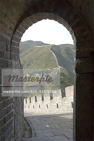 La Chine, près de Pékin, Yu Tian Mu, la grande muraille
