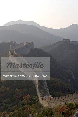 La Chine, près de Pékin, Shuiguan, la grande muraille