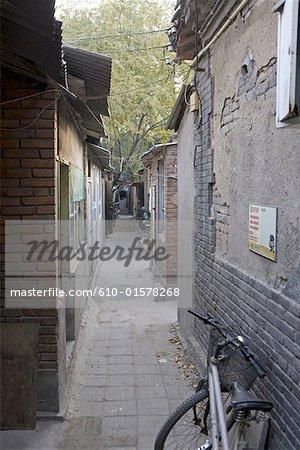 Voie traditionnelle de Chine, Beijing, appelé « hutong »