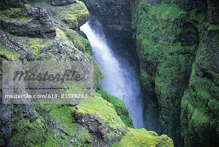Iceland, Glymur waterfall