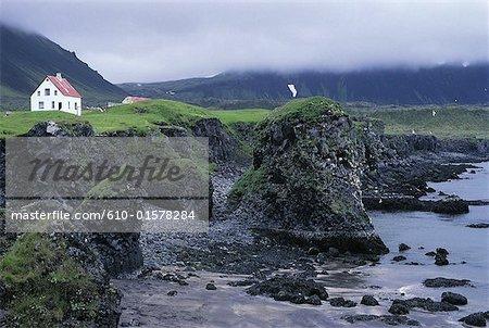 Iceland, Snaefellsnes peninsula , Arnarstapi, coastal landscape