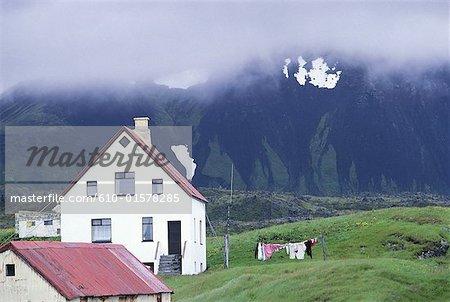 Iceland, Snaefellsnes peninsula , Arnarstapi, traditional house