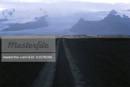 Islande, route vers le glacier Vatnajökull