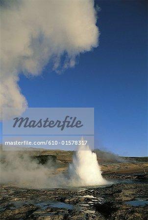 Iceland, site of Geysir, Strokkur geyser