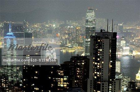China, Hong Kong, view from Victoria Peak