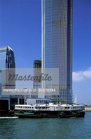 China, Hong Kong, Star Ferry and building