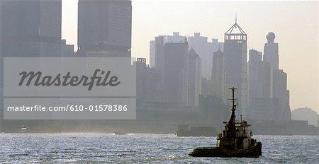 China, Hong Kong, Wan Chai District, seafront